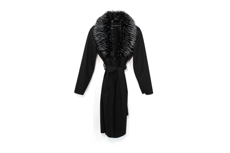 Kotikoti szőrmés kabát black