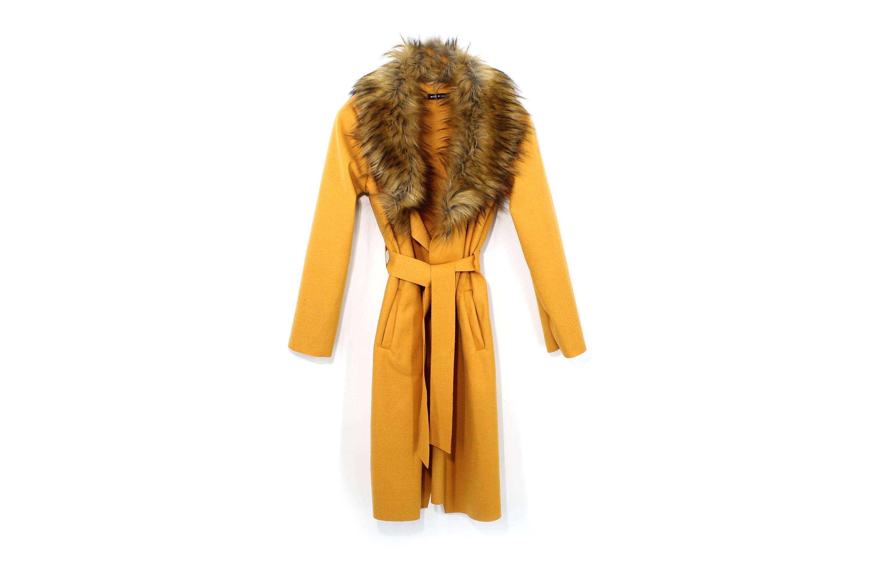 Kotikoti szőrmés kabát yellow