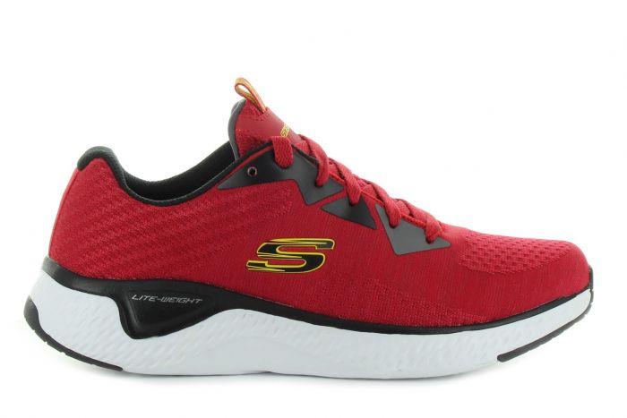Umeki negar Tacón  Skechers Solar Fuse - Kryzik piros gyerek cipő